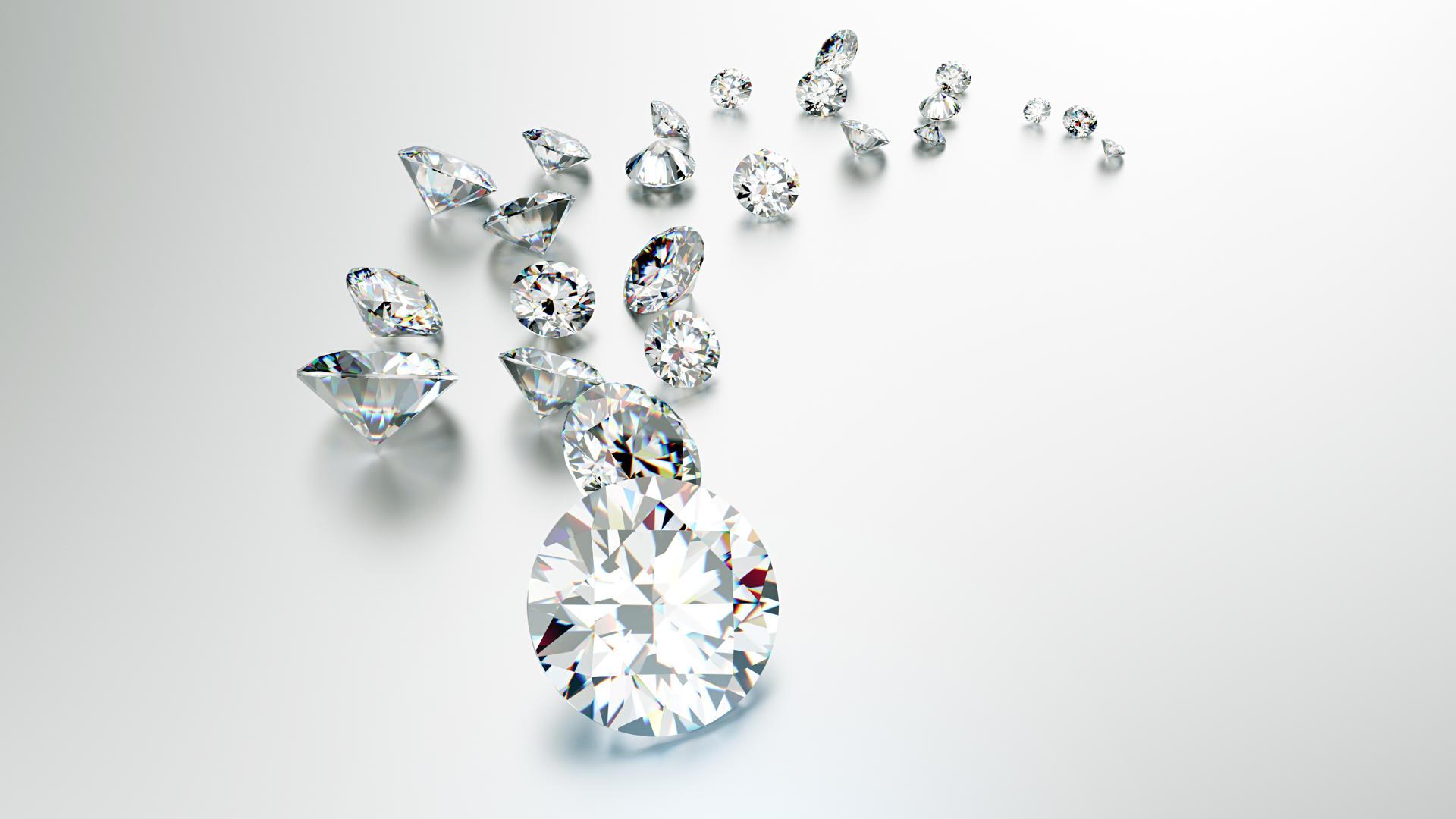 Diamonds. Jewelry background_1920_1080